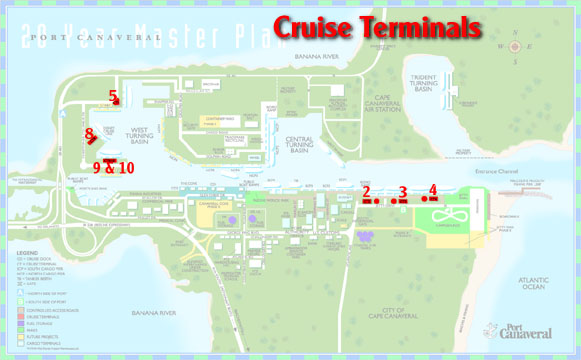 map port canaveral cruise terminal Port Canaveral Usa Cruise Port map port canaveral cruise terminal
